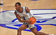 St Louis Billikens guard Javonte Perkins (3) moves downcourt. St. Louis University hosted the University of Arkansas - Pine Bluff in a mens basketball game on December 5, 2020 at Chaifetz Arena on the SLU campus in St. Louis, MO.<br />Photo by Tim Vizer