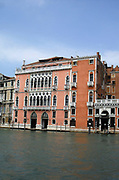 The Palazzo Pisani Moretta, a palace on the Grand Canal in Venice, Italy. Built in the 2nd half of the 15th century, but modified over the years, the aesthetic completed in the 18th century.