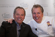 Wolfgang Puck, on the left, and Dean Fearing. Puck expanded the palate of Los Angelenos and became a chef to Hollywood's stars; Fearing brought Southwest American cooking to the level of fine dining.