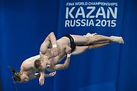 Stup<br /> Foto: imago/Digitalsport<br /> NORWAY ONLY<br /> <br /> DEVOR Filip Julius and JENSEN Daniel Team NOR Diving - Men s 10m synchronised platform preliminaries Day 03 26/07/2015 XVI FINA World Championships Aquatics Swimming Kazan Tatarstan RUS  2015