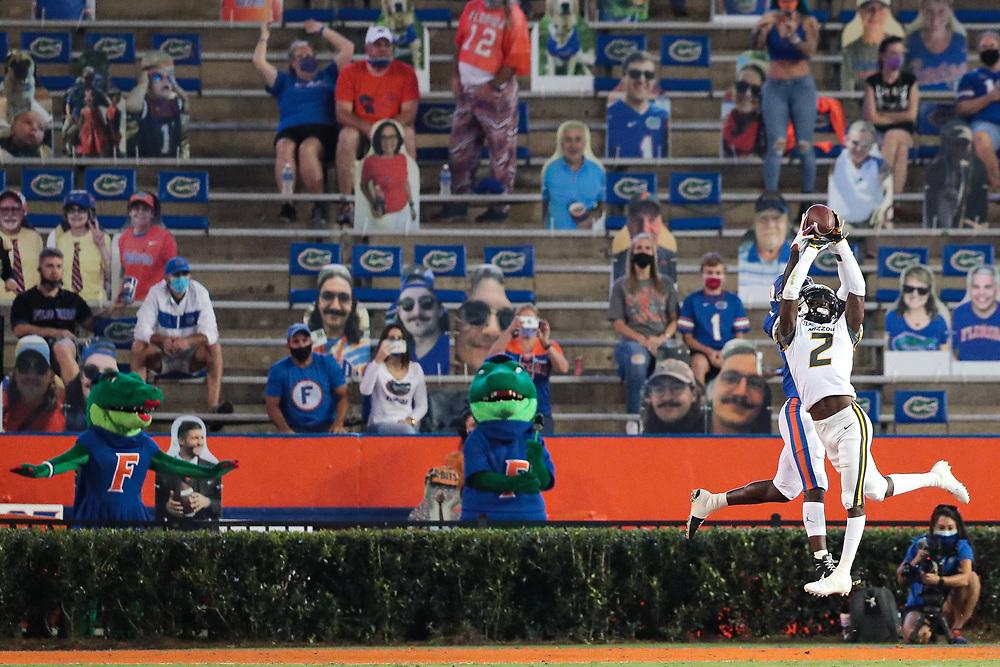 Mizzou Tigers vs. No. 10 Florida Gators at Ben Hill Griffin Stadium in Gainesville, Fla. on Saturday, Oct. 31, 2020.<br /> Zach Bland/Mizzou Athletics