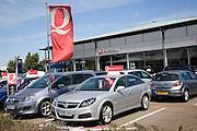 Vauxhall car sales dealership, Ransomes Europark, Ipswich, Suffolk, England