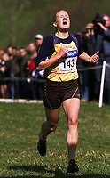 Friidrett. NM terrengløp 2002. Osterøy. 13.04.2002.<br /> 2 km kvinner senior.<br /> Ragnhild Kvarberg fra RenEng vant (143). <br /> Foto: Chris Kyllingmark, Digitalsport