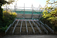 General view outside Home Park Stadium of the steps up to the stadium from the Park before the EFL Sky Bet League 1 match between Plymouth Argyle and Burton Albion at Home Park, Plymouth, England on 20 October 2018.