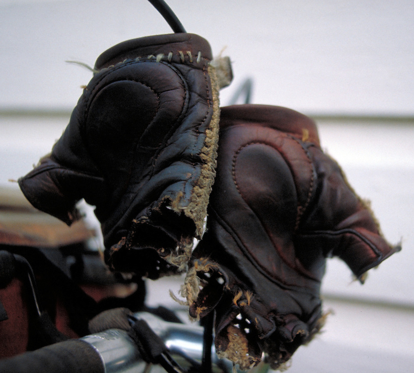 Worn out bicycle gloves. Bike-tography by Martha Retallick.