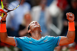 May 8, 2019 - Madrid, Spain - Rafael Nadal (ESP) during the Mutua Madrid Open 2019 (ATP Masters 1000 and WTA Premier) tenis tournament at Caja Magica in Madrid, Spain, on May 08, 2019. (Credit Image: © AFP7 via ZUMA Wire)