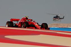 April 7, 2018 - Sakhir, Bahrain - Motorsports: FIA Formula One World Championship 2018, Grand Prix of Bahrain, Helicopter#7 Kimi Raikkonen (FIN, Scuderia Ferrari) (Credit Image: © Hoch Zwei via ZUMA Wire)