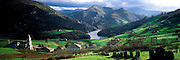 SPAIN, GALICIA, NORTH COAST The Navia River Valley, between Lugo and North Coast, Serandina village, the greenest area of Spain