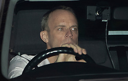 © Licensed to London News Pictures. 24/03/2019. Chequers , UK. Dominic Raab leaves Chequers after meeting with the Prime Minister. There have been reports of a cabinet revolt against Prime Minister Theresa May, over her handing of the Brexit negotiations. Photo credit: Peter Macdiarmid/LNP
