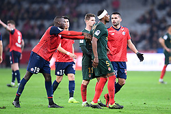 March 15, 2019 - Lille, France - 05 JEMERSON (MONA) - 19 NICOLAS PEPE (LIL) - BLESSURE - ALTERCATION (Credit Image: © Panoramic via ZUMA Press)