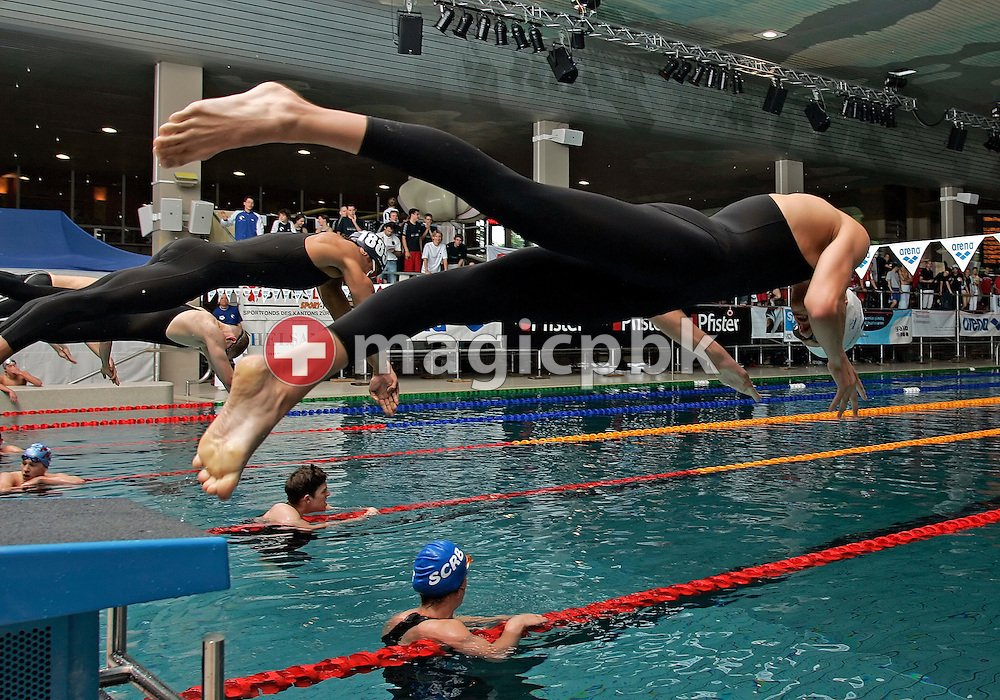 Nico VAN DUIJN of Switzerland starts in the men's 100m freestyle heats in the Hallenbad Oerlikon at the Swimming Swiss Championships in Zurich, Switzerland, Saturday 12 May 2007. (Photo by Patrick B. Kraemer / MAGICPBK)