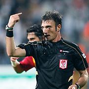 Referee's Ozgur YANKAYA during their Turkish superleague soccer match Besiktas between Kayserispor at BJK Inonu Stadium in Istanbul Turkey on Saturday, 15 October 2011. Photo by TURKPIX