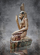 Ancient Egyptian wooden statue of osiris weeping, Late Period (664-332 BC). Egyptian Museum, Turin. Drovetti Cat 203. .<br /> <br /> Visit our HISTORIC WALL ART PRINT COLLECTIONS for more photo prints https://funkystock.photoshelter.com/gallery-collection/Historic-Antiquities-Photo-Wall-Art-Prints-by-Photographer-Paul-E-Williams/C00002uapXzaCx7Y<br /> <br /> Visit our Museum ART & ANTIQUITIES COLLECTIONS to browse more photo at: https://funkystock.photoshelter.com/p/museum-antiquities