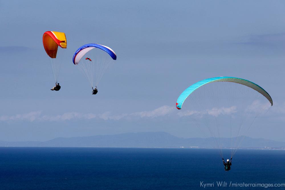 USA, California, San Diego. Torrey Pines paragliders.