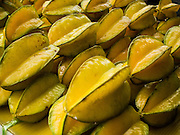 06 AUGUST 2014 - BANGKOK, THAILAND: Starfruit for sale in a market in the Chinatown section of Bangkok.  Starfruit is  Averrhoa carambola and is cultivated throughout Southeast Asia.    PHOTO BY JACK KURTZ