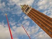 St Mark's Campanile is the bell tower of St. Mark's Basilica and it is the tallest structure in Venice