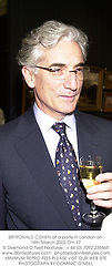 SIR RONALD COHEN at a party in London on 18th March 2002.OYI 17