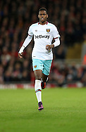 Edimilson Fernandes of West Ham United during the Premier League match at Anfield Stadium, Liverpool. Picture date: December 11th, 2016.Photo credit should read: Lynne Cameron/Sportimage