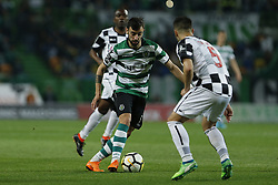 April 22, 2018 - Lisbon, Lisboa, Portugal - Sporting CP Midfielder Bruno Fernandes from Portugal during the Premier League 2017/18 match between Sporting CP and Boavista FC, at Alvalade Stadium in Lisbon on April 22, 2018. (Credit Image: © Dpi/NurPhoto via ZUMA Press)