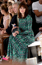 Ophelia Lovibond on the front row during the Bora Aksu London Fashion Week SS18 show held at the BFC Show Space, London.