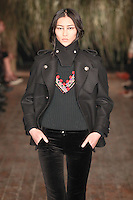 Liu Wen walks down runway for F2012 Altuzarra's collection in Mercedes Benz fashion week in New York on Feb 10, 2012 NYC's