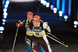 28.12.2013, Veltins Arena, Gelsenkirchen, GER, IBU Biathlon, Biathlon World Team Challenge 2013, im Bild Lisa Hauser (Oesterreich / Austria) // during the IBU Biathlon World Team Challenge 2013 at the Veltins Arena in Gelsenkirchen, Germany on 2013/12/28. EXPA Pictures © 2013, PhotoCredit: EXPA/ Eibner-Pressefoto/ Schueler<br /> <br /> *****ATTENTION - OUT of GER*****