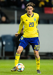 March 23, 2019 - Stockholm, SWEDEN - 190323 Kristoffer Olsson of Sweden during the UEFA Euro Qualifier football match between Sweden and Romania on March 23, 2019 in Stockholm. (Credit Image: © Andreas L Eriksson/Bildbyran via ZUMA Press)