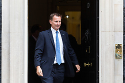 London, September 5th 2017. Health Secretary Jeremy Hunt leaves the first UK cabinet meeting at Downing Street after the summer recess. ©Paul Davey