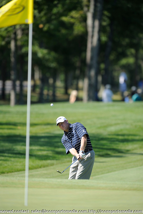 31 Aug 2008:  John Rollins chips to the green during the third round of the Deutsche Bank Championship  at the TPC Boston in Norton, MA.