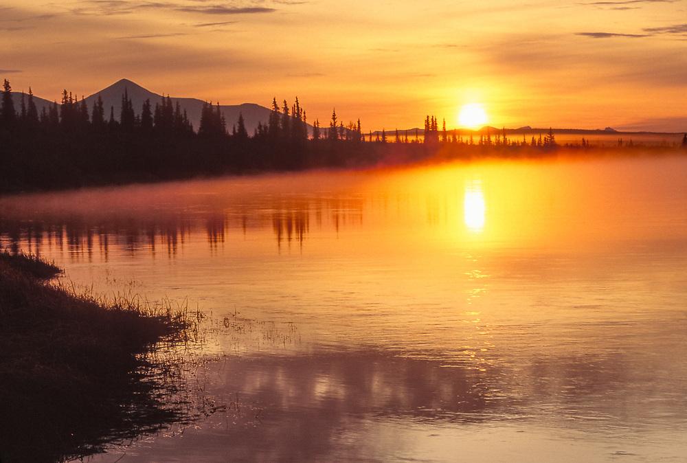 Sunrise, Onion Portage, September, Kobuk River, Kobuk Valley National Park, Alaska, USA