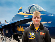 Captain Rob Kurrle, Blue Angels Pilot.  Created on a cold November day in the fall of 2011 at Pensacola Naval Air Station, Florida.  The following day was Captain Kurrle's last as a member of the Blue Angels.  <br /> <br /> Created by aviation photographer John Slemp of Aerographs Aviation Photography. Clients include Goodyear Aviation Tires, Phillips 66 Aviation Fuels, Smithsonian Air & Space magazine, and The Lindbergh Foundation.  Specialising in high end commercial aviation photography and the supply of aviation stock photography for advertising, corporate, and editorial use.
