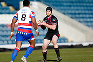 Halifax RLFC prop Daniel Murray (27) in action  during the Betfred Championship match between Rochdale Hornets and Halifax RLFC at Spotland, Rochdale, England on 25 February 2018. Picture by Simon Davies.