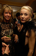 Sabrina Guinness and Daphne Guinness. Artists Independent Networks  Pre-BAFTA Party at Annabel's co hosted by Charles Finch and Chanel. Berkeley Sq. London. 11 February 2005. . ONE TIME USE ONLY - DO NOT ARCHIVE  © Copyright Photograph by Dafydd Jones 66 Stockwell Park Rd. London SW9 0DA Tel 020 7733 0108 www.dafjones.com