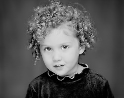Little girl Shirley Temple look