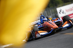July 15, 2018 - Toronto, Ontario, Canada - SCOTT DIXON (9) of New Zealand battles for position during the Honda Indy Toronto at Streets of Toronto in Toronto, Ontario. (Credit Image: © Justin R. Noe Asp Inc/ASP via ZUMA Wire)