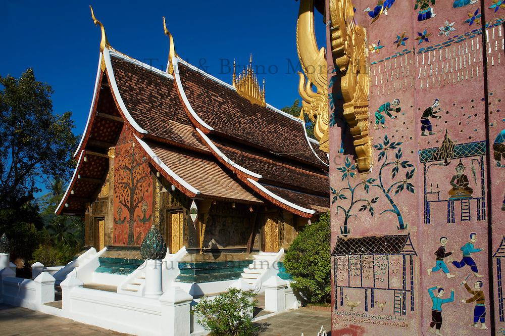 Laos, Province de Luang Prabang, ville de Luang Prabang, Patrimoine mondial de l'UNESCO depuis 1995, temple Wat Xieng Thong // Laos, Luang Prabang province, city of Luang Prabang, World heritage of UNESCO since 1995, Wat Xieng Thong temple