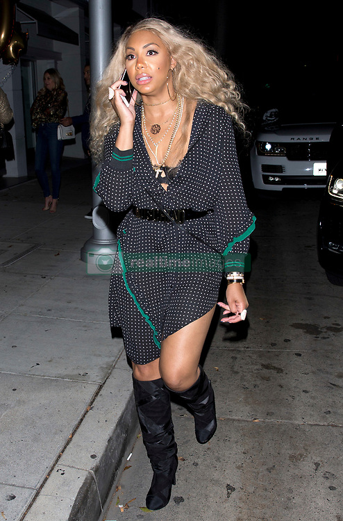 EXCLUSIVE: Jada Pinkett Smith, Tamar Braxton and Toni Braxton along with other friends and family celebrate Toni Braxton's 50th Birthday at Mr. Chow Restaurant in Beverly Hills, CA. 08 Oct 2017 Pictured: Tamar Braxton. Photo credit: MEGA TheMegaAgency.com +1 888 505 6342