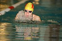 NM svømming senior/05032004/ Grottebadet i Harstad/Trine Lise Tønnessen Kristiansand SA/50m bryst damer forsøk/<br /> FOTO: KAJA BAARDSEN/DIGITALSPORT