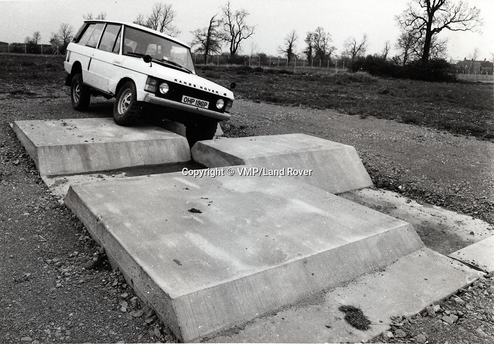 1980 Range Rover on test track