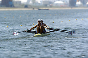 20040814 Olympic Games Athens Greece [Rowing]<br /> Photo  Peter Spurrier <br /> GBR W2X Bow Elise Laverick and Sarah Winckless, moves off the start on the opening day of the Olympic regatta.<br /> <br /> email;  images@intersport-images.com<br /> Tel +44 7973 819 551<br /> T<br /> <br /> <br /> [Mandatory Credit Peter Spurrier/ Intersport Images]