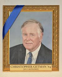 Blue Leadership Ball 2011, Yale University Athletics. Award Honoree Christopher Getman '64 Portrait hanging in the Kiphuth Trophy Room, Payne Whitney Gymnasium.