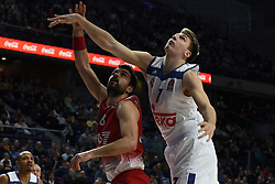 January 27, 2017 - Madrid, Madrid, Spain - Luca Doncic (R), #4 of Real Madrid in action during the Euroleague basketball match between Real Madrid and EA7 Emporio Armani Milano. (Credit Image: © Jorge Sanz GarcíA/Pacific Press via ZUMA Wire)