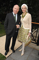 Actor and Oscar winning screenwriter JULIAN FELLOWES and his wife EMMA KITCHENER-FELLOWES at a reception for the Friends of The Castle of Mey held at The Goring Hotel, London on 20th May 2008.<br /><br />NON EXCLUSIVE - WORLD RIGHTS