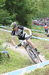 01.06.2014, Bullentaele, Albstadt, GER, UCI Mountain Bike World Cup, Cross Country Herren, im Bild Florian Vogel Schweiz // during Mens Cross Country Race of UCI Mountainbike Worldcup at the Bullentaele in Albstadt, Germany on 2014/06/01. EXPA Pictures © 2014, PhotoCredit: EXPA/ Eibner-Pressefoto/ Langer<br /> <br /> *****ATTENTION - OUT of GER*****