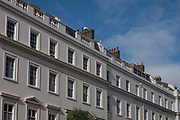 Blue skies at Eaton Place on the 25th September in London in the United Kingdom.