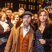 NLD/Amsterdam/20160311 - Inloop Boekenbal 2016, Ilja Gort en partner Caroline d' Hollosy