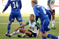 Fotball <br /> Tippeligaen<br /> AKA Arena , Hønefoss <br /> 12.09.2010<br /> Hønefoss BK  v FK Haugesund   0-2<br /> Foto: Dagfinn Limoseth, Digitalsport<br /> Kamal Saaliti  , Hønefoss