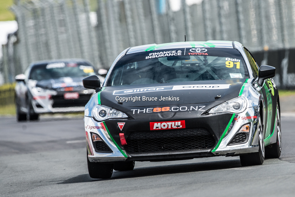 Callum Quin at Round 2 of the Toyota Finance 86 Series at Pukekohe, New Zealand, 2014. Photo by Bruce Jenkins Photography / www.brucejenkins.co.nz