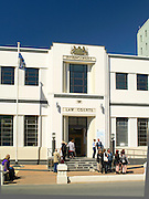 A view across Don Street of the District Court, Invercargill, New Zealand