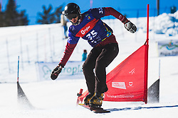 Arnaud Gaudet (CAN) during parallel slalom FIS Snowboard Alpine World Championships 2021 on March 2nd 2021 on Rogla, Slovenia. Photo by Grega Valancic / Sportida